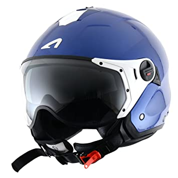 Astone Helmets MINISPORT-MBLXS Minijet Sport - Casco de motocicleta, Azul Metálico, XS