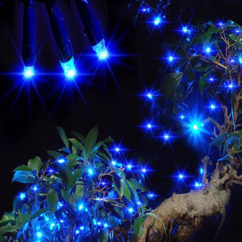 H+K+L 12M 100 LED Outdoor Solar Powered String Light Waterproof Decor for Christmas Party Lamp (Blue)