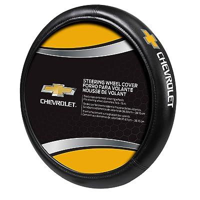 Plasticolor Chevy Gold Bowtie Style Premium Speed Grip Steering Wheel Cover: Automotive