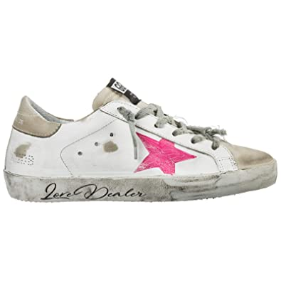 half off f7185 8a113 Amazon.com | Golden Goose Women's G34WS590M96 White Leather ...