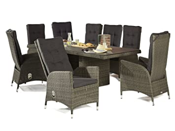 Wholesaler GmbH Barcelona Gartenmöbel Set Tischgruppe 8X ...