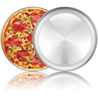 Pizza Baking Pan Pizza Tray - Deedro 12 inch Stainless Steel Pizza Pan Round Pizza Baking Sheet Oven Tray Pizza Crisper…
