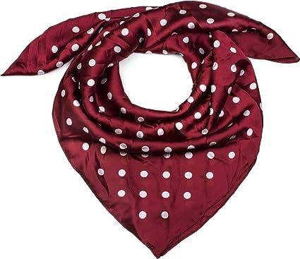 styleBREAKER Foulard carré pour femme avec un imprimé à pois rétro, tissu,  fichu, 49c5a8d2d9a