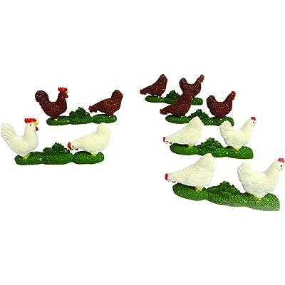 Britains - Bri42812 - Véhicule Miniature - Modèle À L'échelle - Poules - Blanc/marron - Lot De 4 - Echelle 1/32