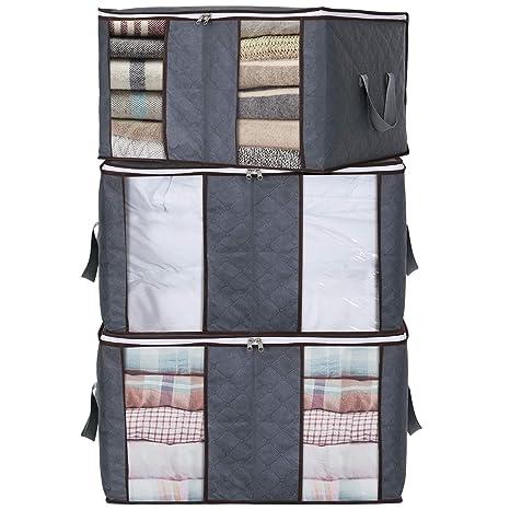 Amazon.com: Lifewit Bolsa de almacenamiento para ropa con 2 ...