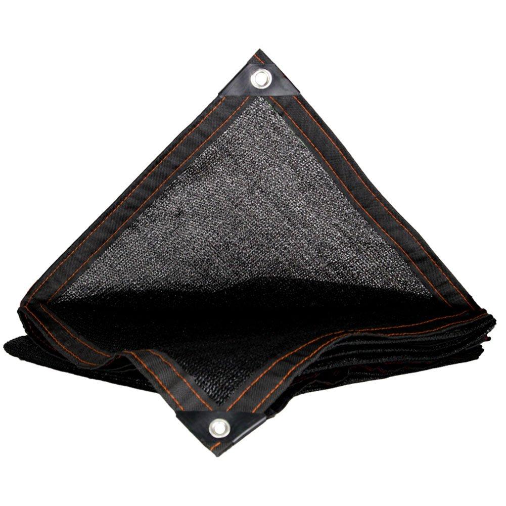 LIANGLIANG Rete Parasole Serre Antivento Ombrellone Tenda Multifunzione Pieghevole Protettiva Multifunzione con Foro Metallico in Polietilene, 20 Misure (colore   Nero, Dimensioni   8x12m)