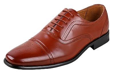 91aac68e6e5254 Delli Aldo Mens Wing Tip Dress Shoes   Comfortable Dress Shoes I Formal    Lace-