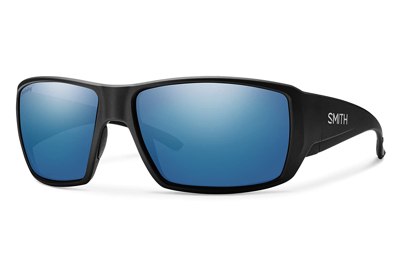 Smith Guides Choice ChromaPop Polarized Sunglasses, Matte Black, Blue Mirror Lens Smith Optics