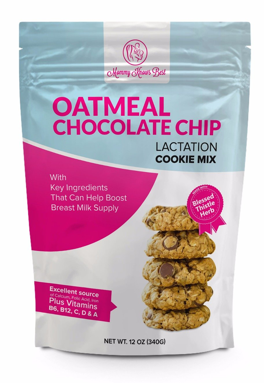 Lactation Cookie Mix with Blessed Thistle - Formulated with Key Ingredients To Help Boost and Support Breast Milk Supply In Nursing Mothers