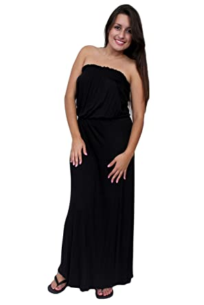 82a024dc1e1 Women s Smocked Tube Maxi Dress Long Full Length Made in The USA at Amazon  Women s Clothing store