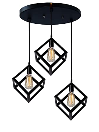 Buy Imperial Cube Shaped Unique And Decorative Hanging Light Pendant Light Ceiling Light For Bedroom Living Room Home Decor Black Online At Low Prices In India Amazon In