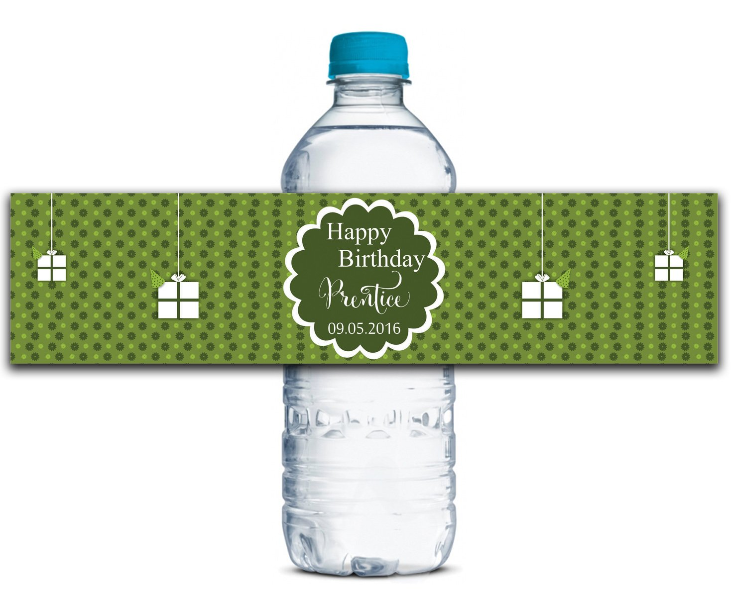 Personalisierte Wasserflasche Etiketten Selbstklebende wasserdichte Kundenspezifische Geburtstags-Aufkleber 8  x 2  Zoll - 50 Etiketten B01A0W4PJO | Schnelle Lieferung