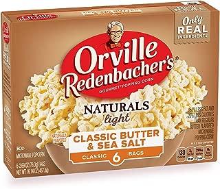 product image for Orville Redenbacher's Naturals Light Classic Butter & Sea Salt Popcorn, 2.69 Ounce Classic Bag, 6-Count