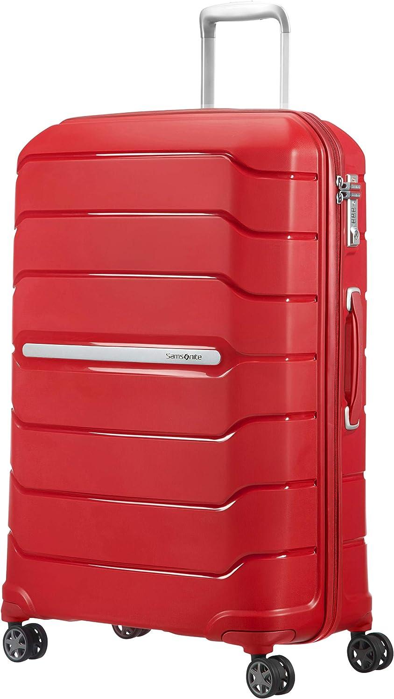 Samsonite Flux - Spinner Equipaje de Mano, 75 cm, 121 litros, Rojo (Red)
