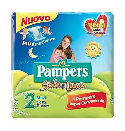 Pampers - Sole e Luna - Pañales - Talla 2 (3-6 kg)