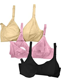 43a7386c20e Fabme Women s Full Cup Nursing Bra (Pack of 3)  Amazon.in  Clothing ...
