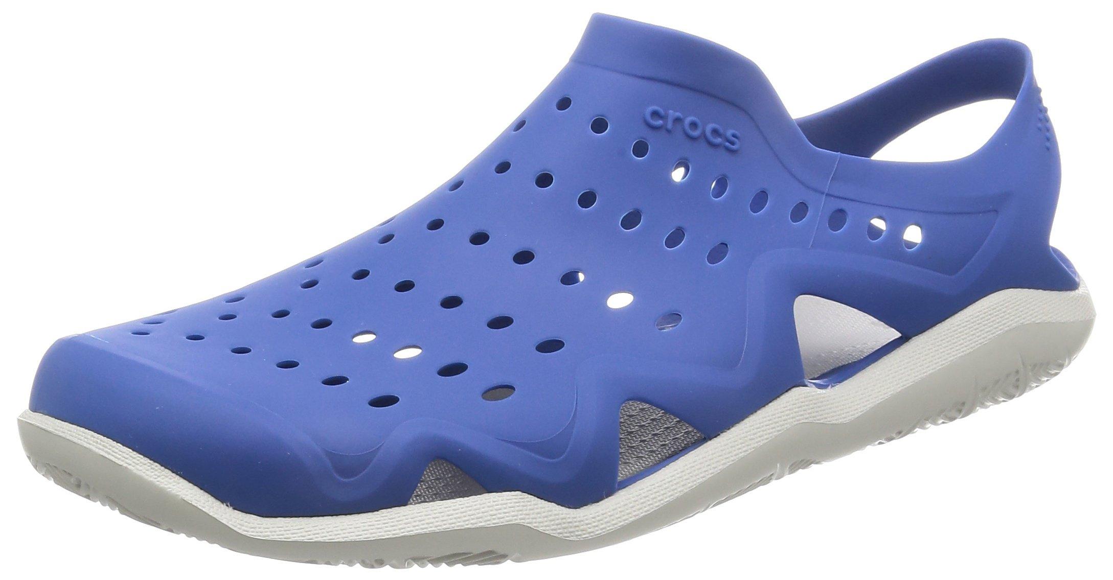 Crocs Men's Swiftwater Wave M Flat,Blue Jean/Pearl White,10 M US by Crocs