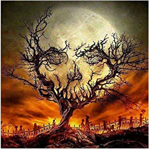 minjiSF Halloween Decorations 5D Embroidery Paintings Rhinestone Pasted DIY Diamond Painting Cross Stitch 11.8 X 11.8in