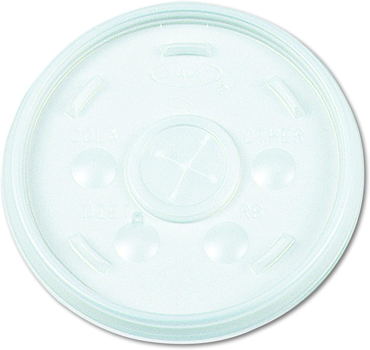Dart 32SL Plastic Lids, Straw Slot, Fits 32oz Hot/Cold Foam Cups, White (Case of 500)