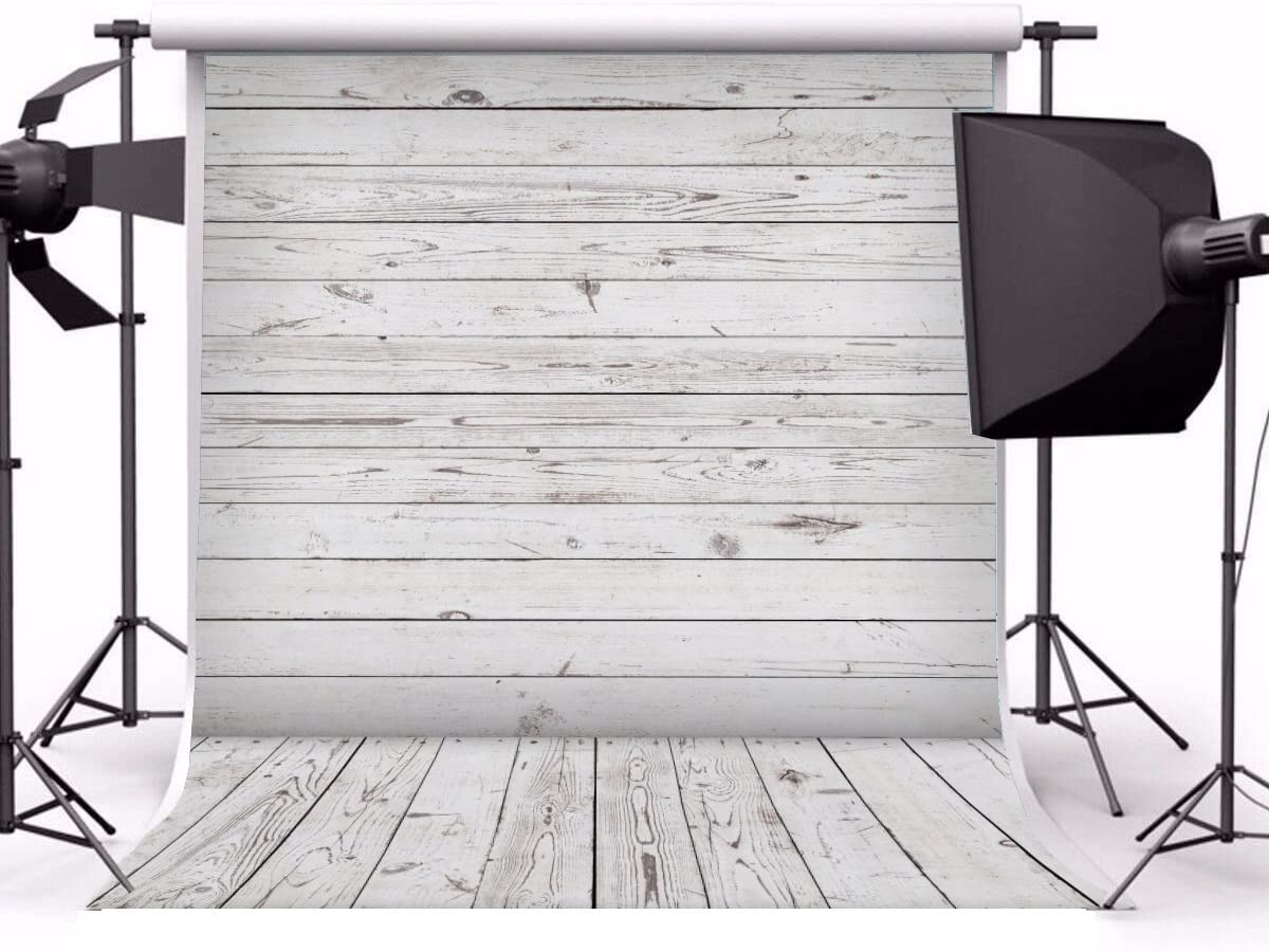 Yeele 6x9ft Gray White Wood Plank Photo Backdrops Vinyl Vintage Wooden Floor Wall Photography Background Party Pet Baby Girl Adult Photo Studio Shooting Props
