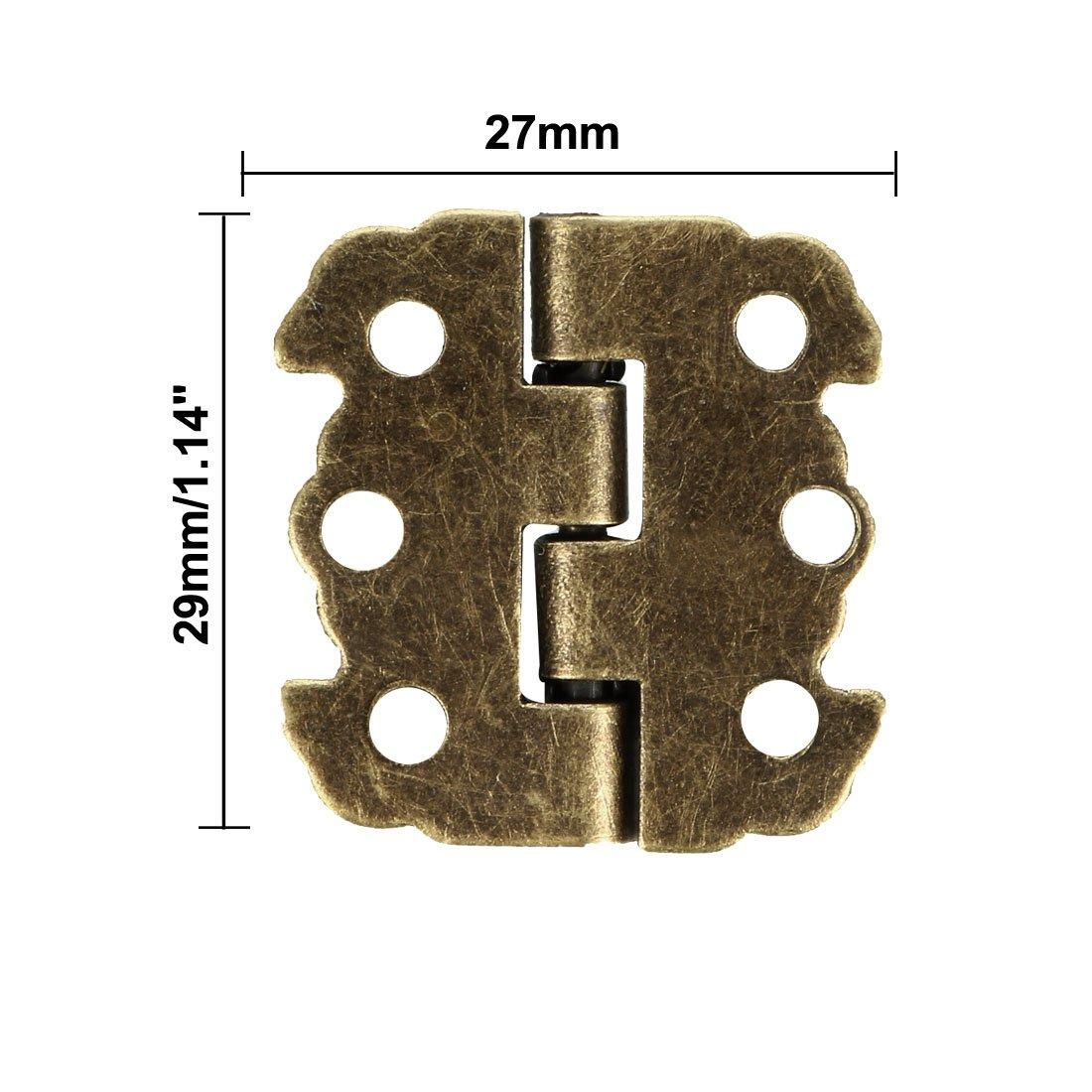 sourcing map 2.7 antique bronze charni/ère r/étro avec vis Rechange 10pcs
