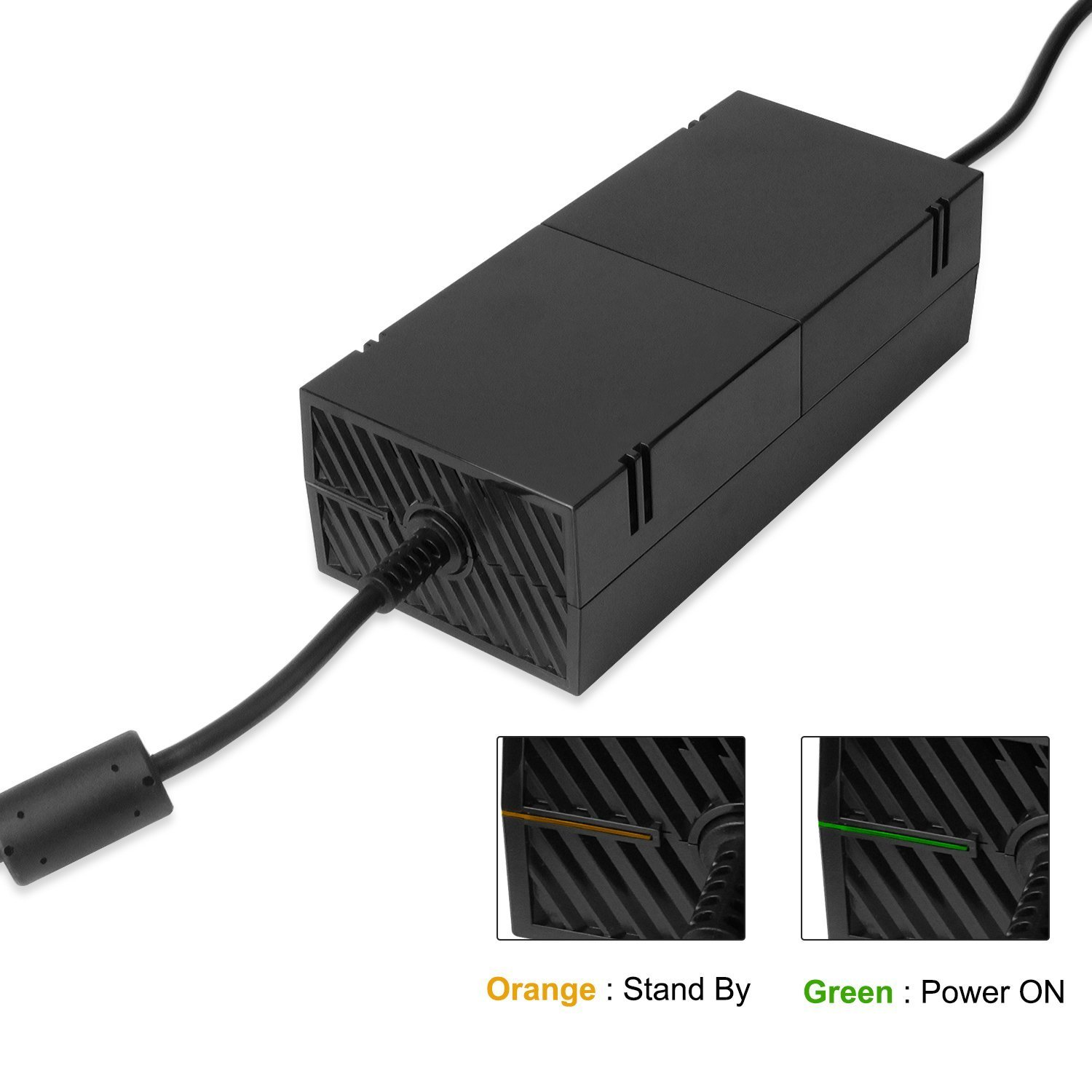 Xbox One Power Supply Brick Quite Version Ac Adapter Wiring Black White Green Cable Replacement Kit For 1 Console Games Auto Voltage 100 240v Computers
