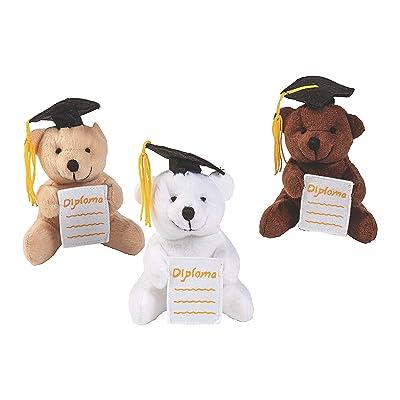 Graduation Diploma Pocket Bears - Toys - 12 Pieces: Toys & Games