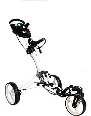 "Chariot de golf Yorrx® SL Pro 7 HAMMA ""PLUS"" Alu-Pushtrolley / Golfwagen / Pushtrolley / Golfcart couleur BLANC"