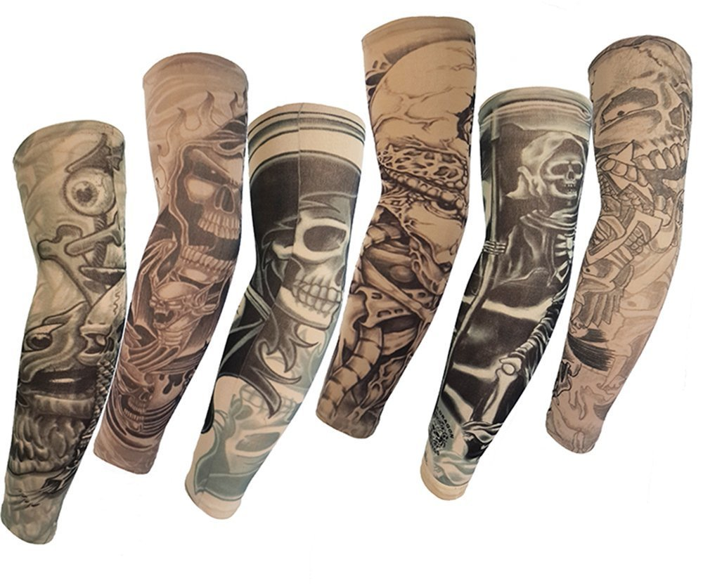 Temporary Tattoo Sleeves Body Art Fake Slip on Arm Sleeves Stockings Accessories Kit (Animals-6) FIST BUMP Dept