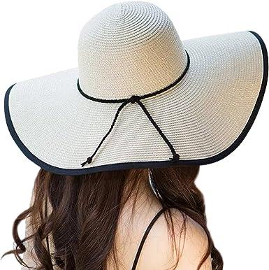 WeiMay Foldable Sunhats Wide Brim Beach Cap Outdoor Leisure Visor Hat for Women Ladies