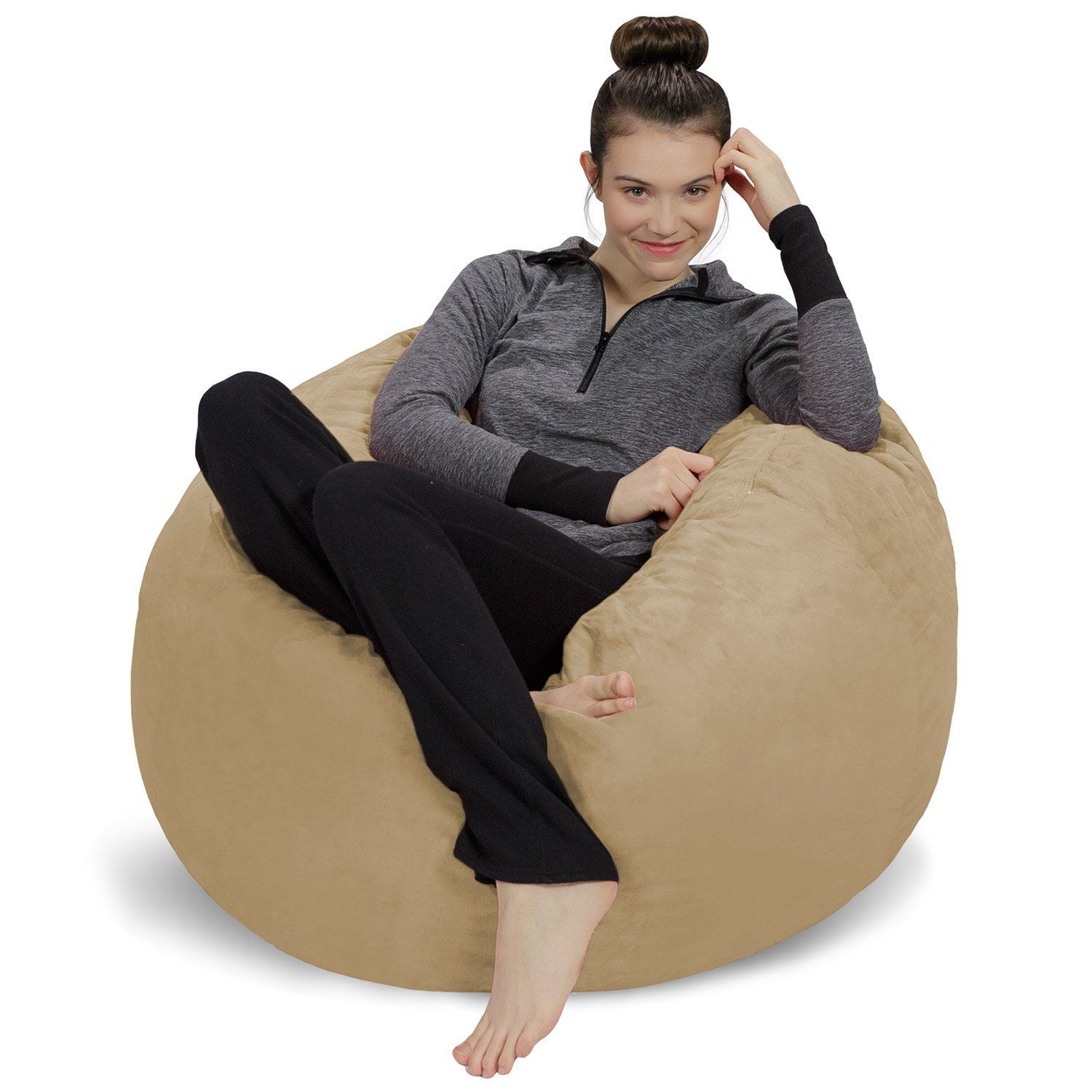 Incroyable Amazon.com: Sofa Sack   Plush, Ultra Soft Bean Bag Chair   Memory Foam Bean  Bag Chair With Microsuede Cover   Stuffed Foam Filled Furniture And  Accessories ...