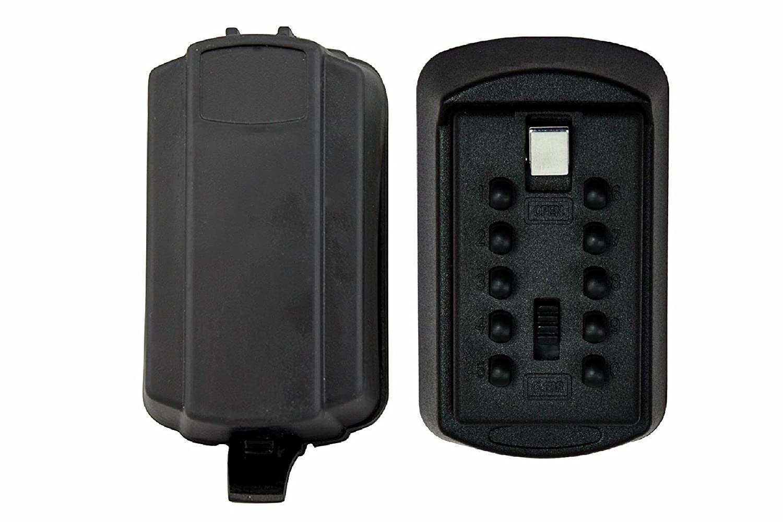 SALE! Knight Box (TM) Push Button Lock Box, Combination Key Storage LOCK Box, Key Safe, Wall Mount Key Lock Box with 10-Digit Push-Button Combination Black Great Christmas Gift