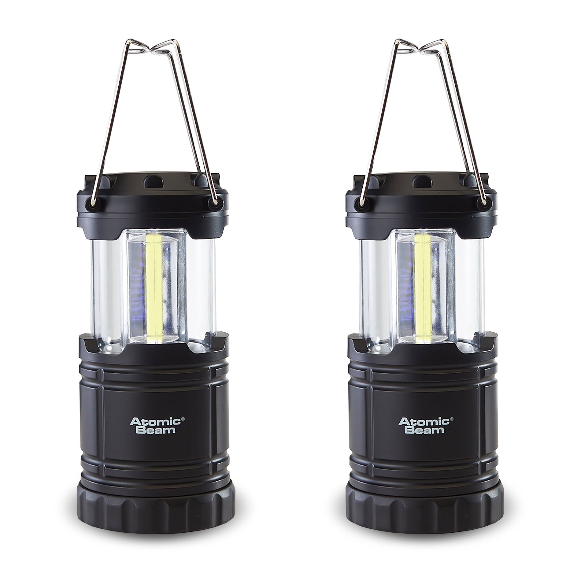 Perfect Tent Light for Power Outage LED Camping Lanterns Waterproof Lantern Flashlight Hiking Hurricane Survival 4 Light Modes 2 Pack COB Battery Lantern 6D Batteries Included 1200LM