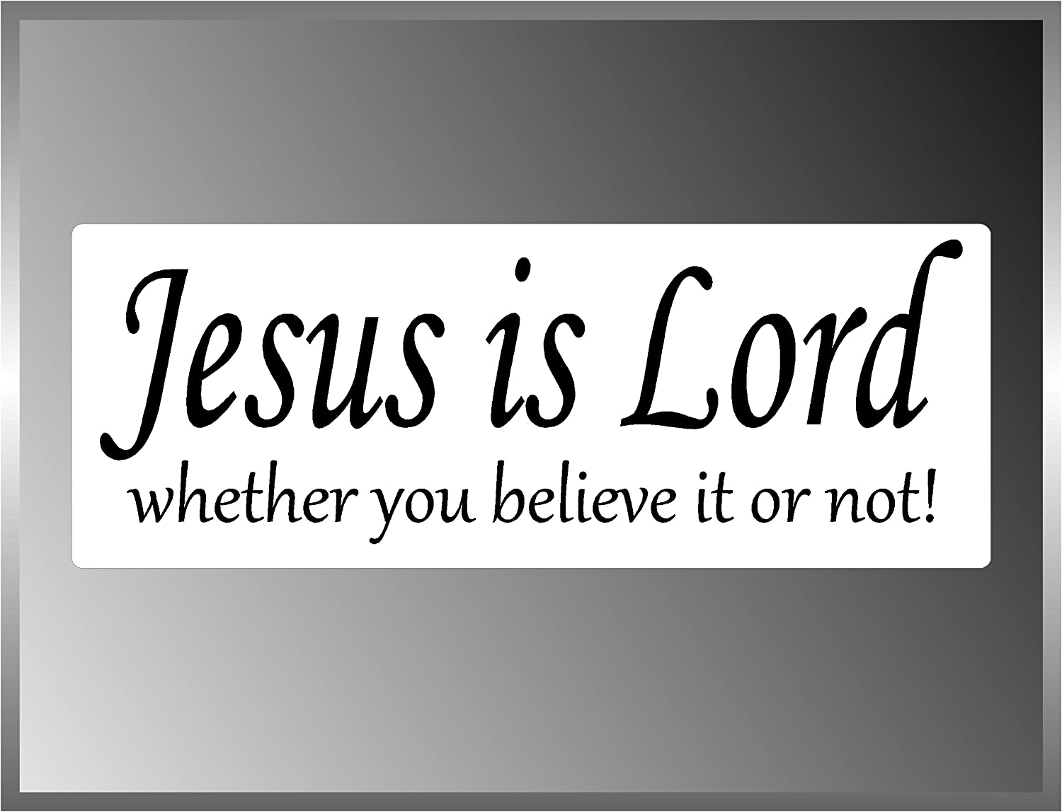 John 3:16 JESUS BELIEVE Bible Wall Decal //// car-home-garage //// Ready-to-Apply