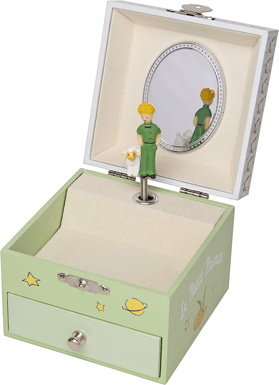TrouSSELIER - Caja para tesoros y joyas musicales, ideal como regalo para niños, fosforescente y brillante en la noche, música del Valse de Amélia, color verde: Amazon.es: Hogar