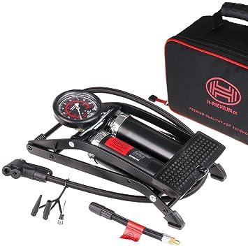 HEYNER/® 225010 2 Zylinder Fu/ßpumpe Auto Luftpumpe bis 10 Bar