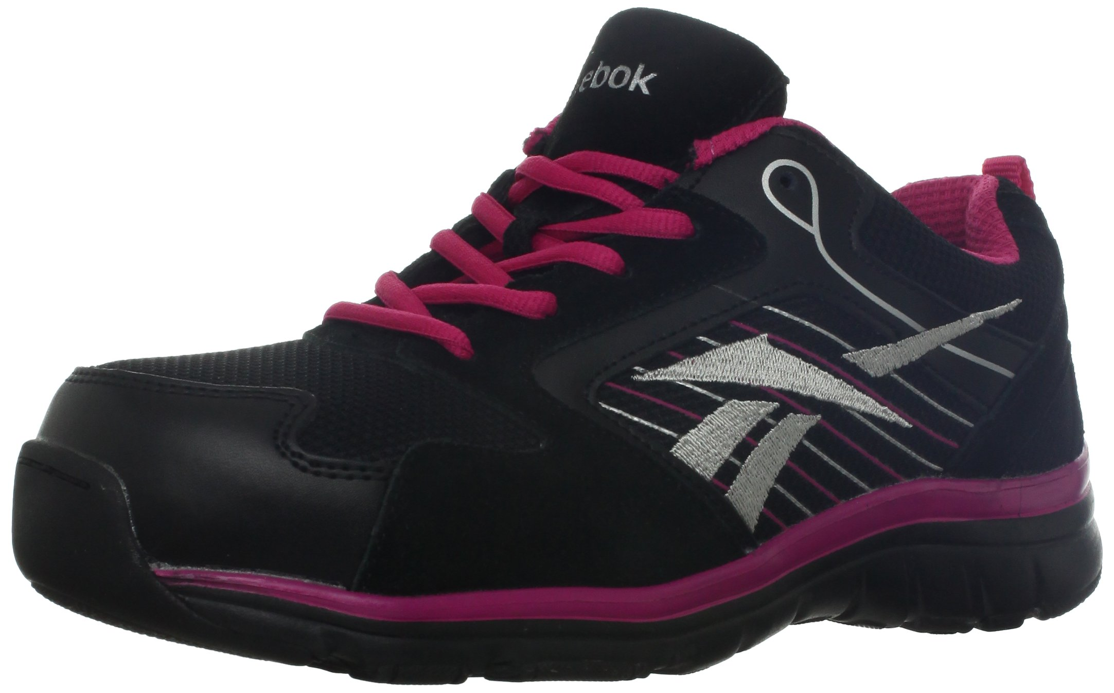 Reebok Work Women's Anomar RB454 Work Shoe,Black/Pink,10 W US