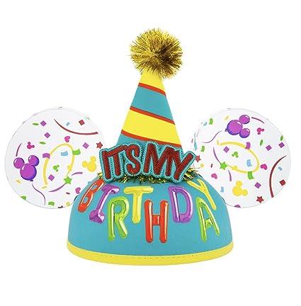 Amazon.com: Disney Parks su mi cumpleaños orejas de Mickey ...