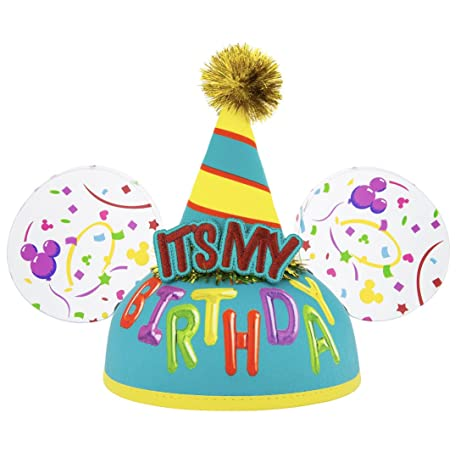 81c5bc9e0d3d2b Amazon.com: Disney Parks Its My Birthday Mickey Mouse Ears Hat: Toys & Games
