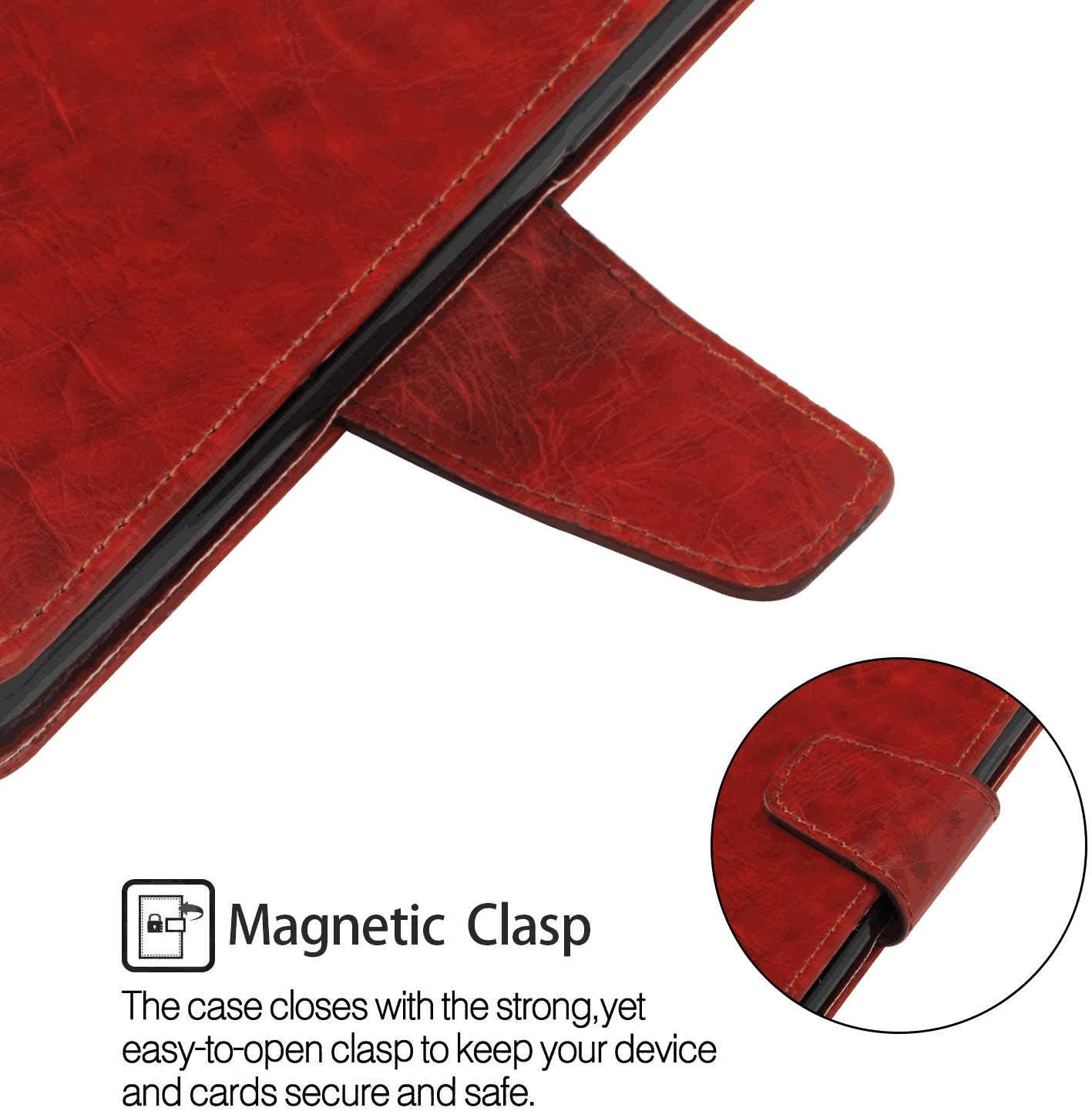 Flip Cover fit for iPhone 8 Business Gifts WiseSwim Simple-Style Leather Case for iPhone 8