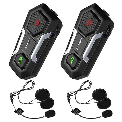 42606979292f SUAOKI Auriculares Intercomunicador Moto