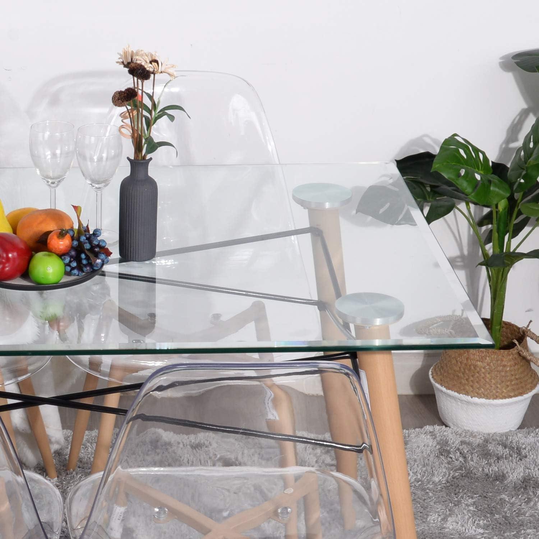 IPOTIUS Tavolo da Pranzo Rettangolare Stile Nordico Tavolo da Cucina Scandinavo Tavoli in Legno,110x70x72cm Bianco