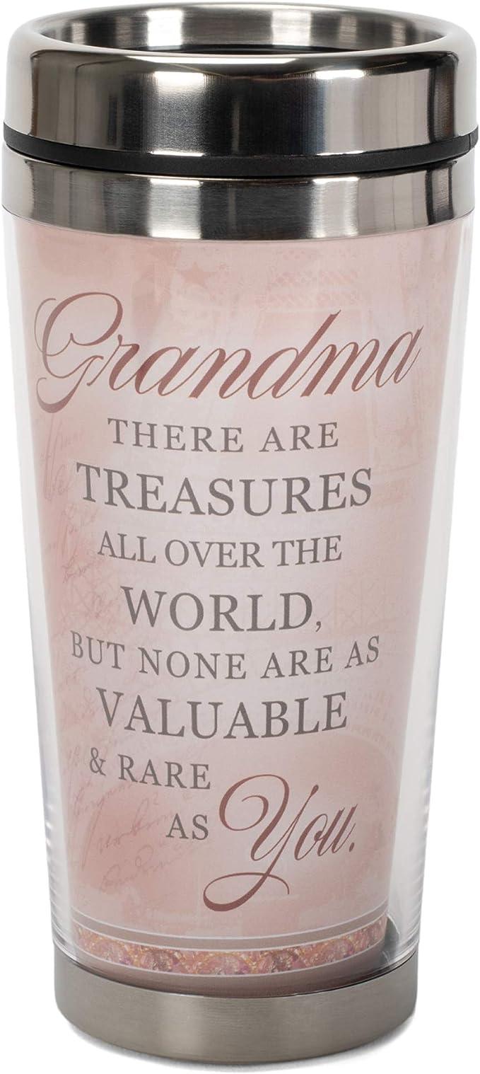 Grandma Treasures 16 Oz Stainless Steel Travel Mug With Lid Kitchen Dining