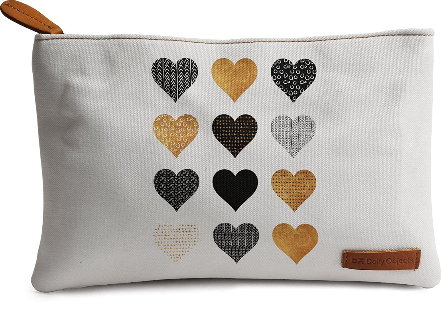 Gold Hearts Carry-all Pouch Medium