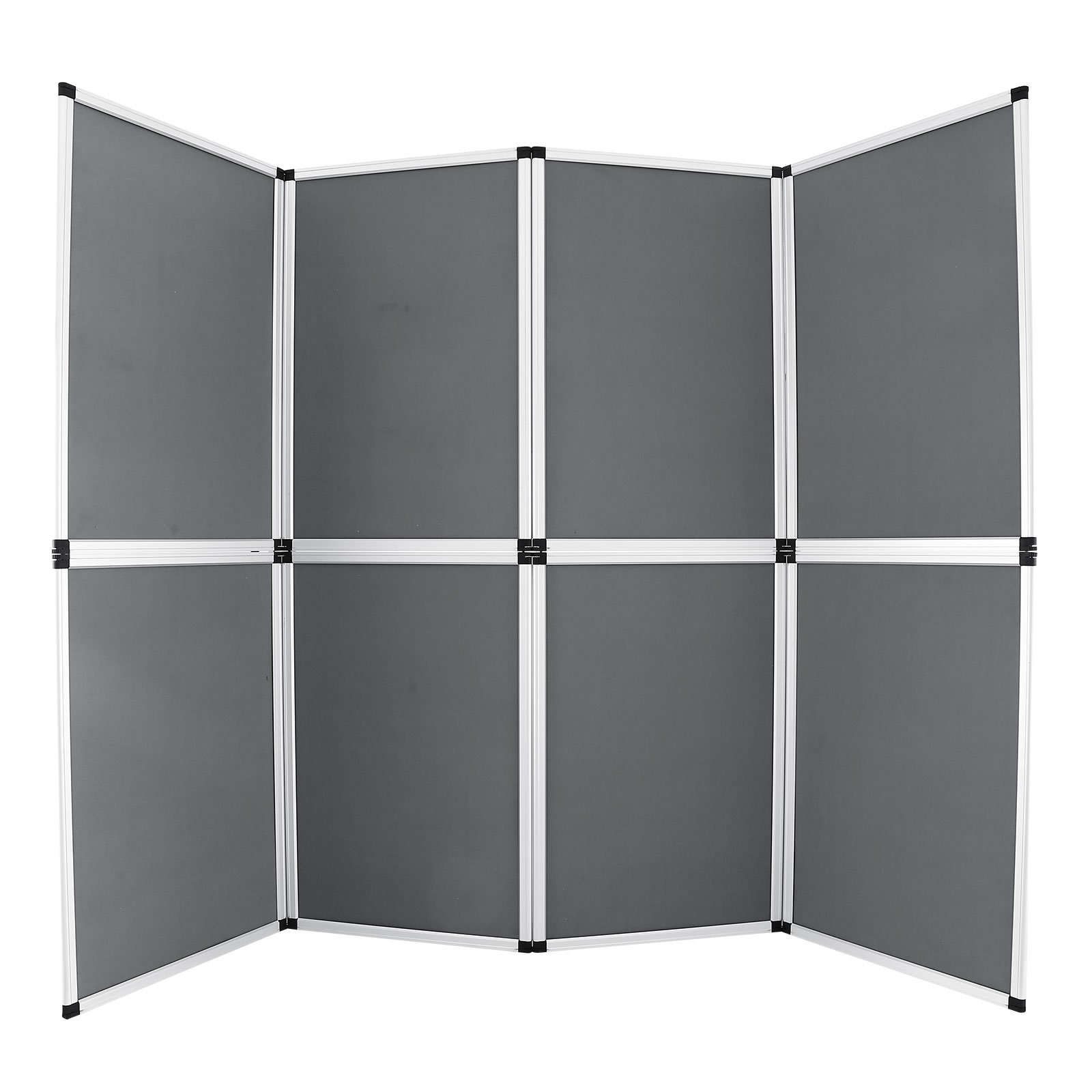 Happybuy Trade Show Display 8 Panel Panel Screen Each Panel is 24x36 Inches Folding Screen with Gray Velcro-Receptive Fabric (8 panels) by Happybuy