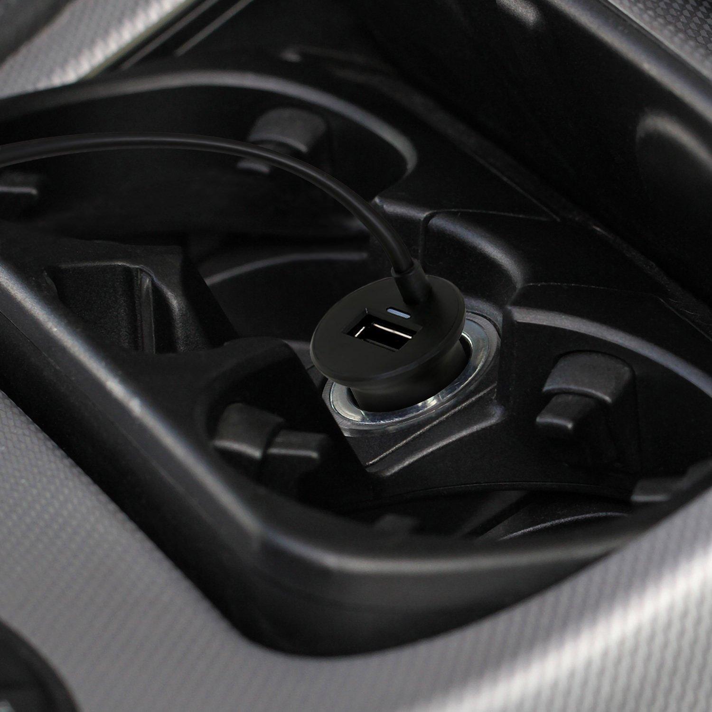 Navigon C/âble de chargement design Fiche allume-cigare original vers fiche mini USB coud/ée /à 90/° San