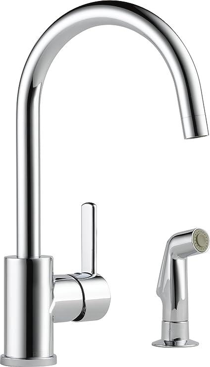 Peerless Precept Single Handle Kitchen Sink Faucet With Side Sprayer Chrome P199152lf