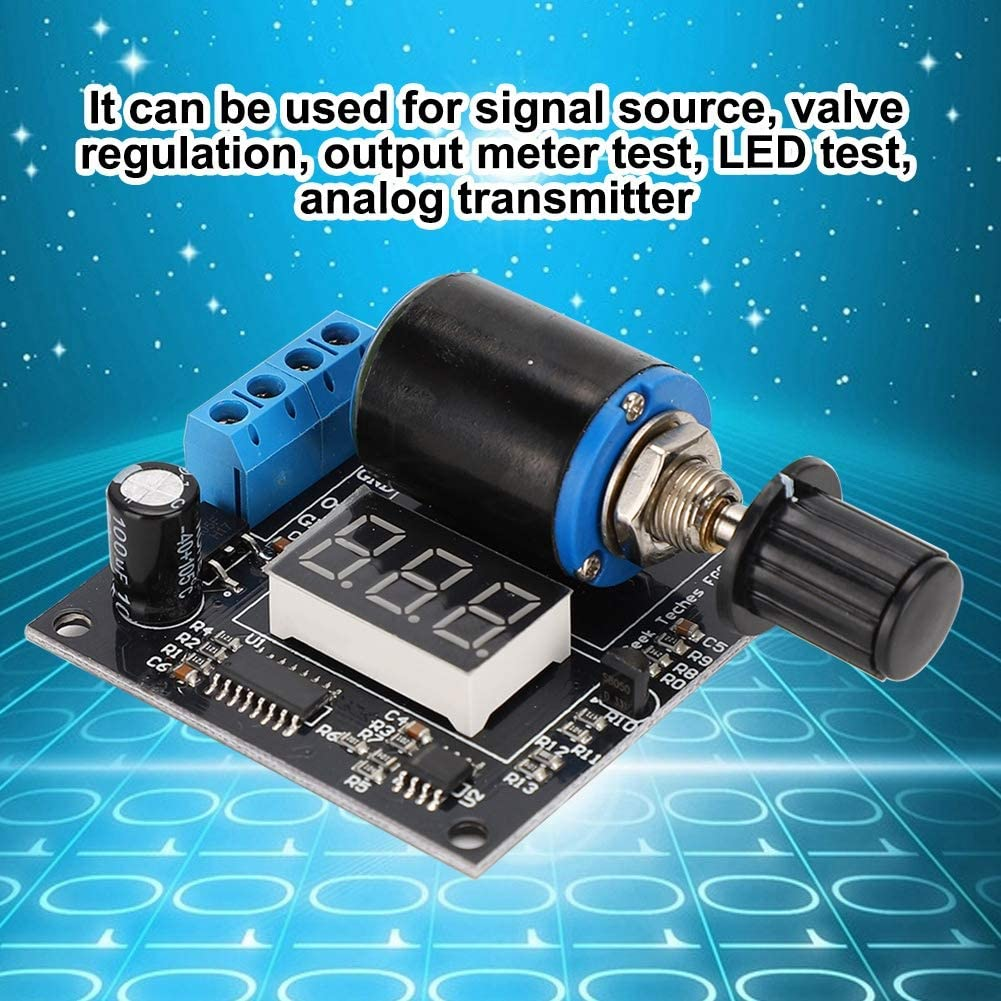 DC 12V 24V 4-20mA Adjustable Digital Current Signal Generator Module Easy to Use Signal Generator Module with Transparent Acrylic Case