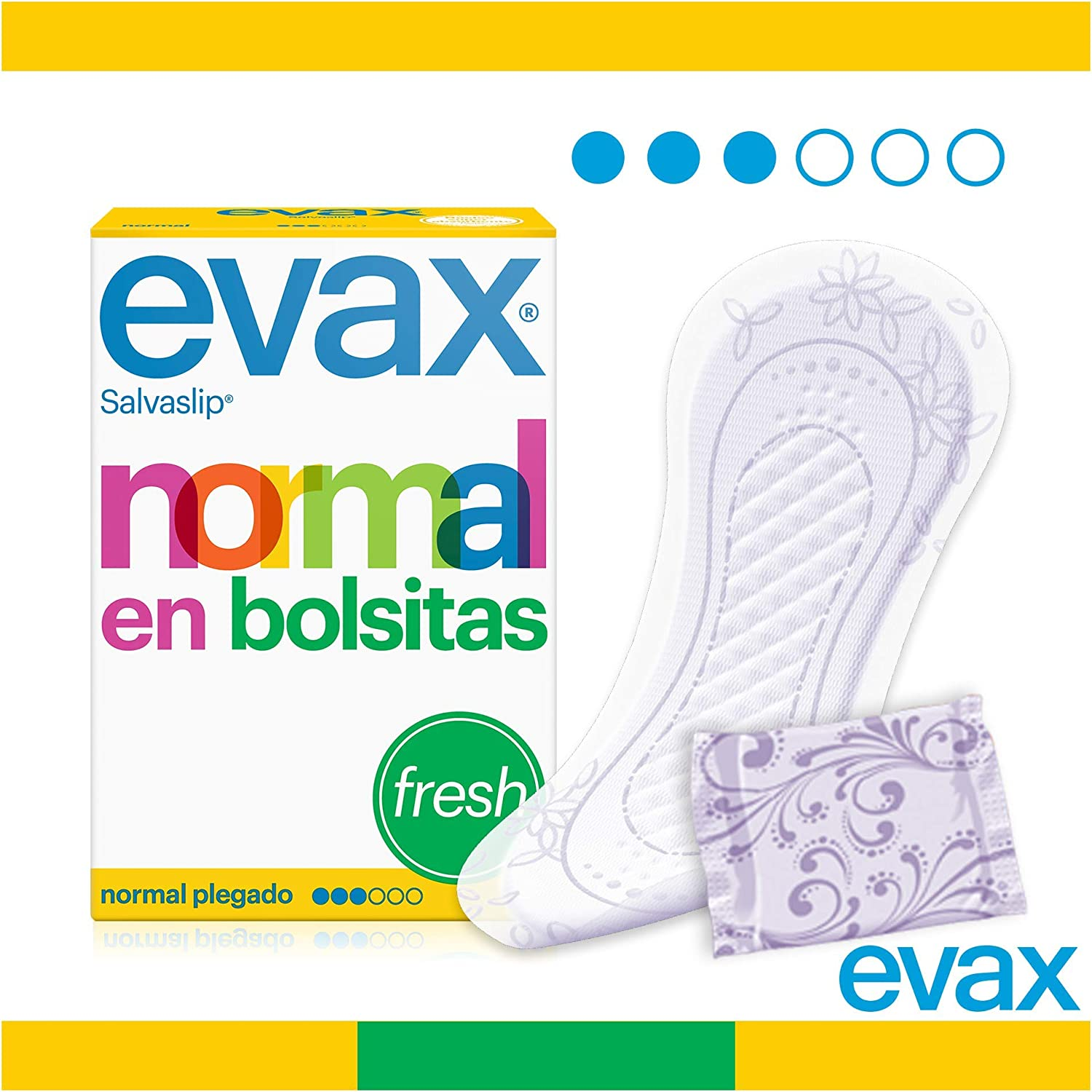 Evax Salvaslip Perfumado Normal Protegeslips - 20 unidades: Amazon ...