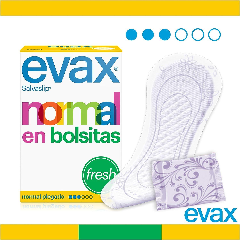 Evax Salvaslip Perfumado Normal Protegeslips - 20 unidades: Amazon ...